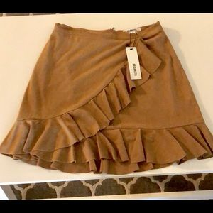 Wrap-Front Ruffled Skirt (NWT)